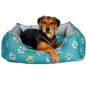 """Лежак для собак """"Jimmy"""" Trixie бирюзовый/серый с лапками нейлон"""