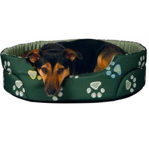 """Лежак для собак """"Jimmy"""" Trixie зеленый с лапками нейлон"""