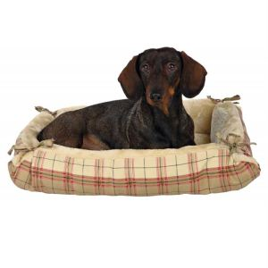 "Лежак для собак ""Relax"" Trixie бежевый хлопок/плюш 70х60 см."