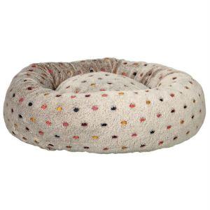 """Лежак круглый для собак """"Donny"""" Trixie бежевый в горошек плюш 50 см."""