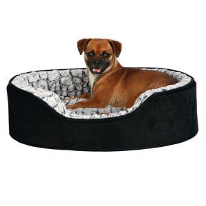 """Лежак ортопедический для собак """"Lino vital"""" Trixie черный/серый плюш"""