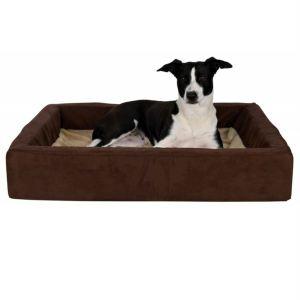 """Лежак ортопедический для собак """"Memory Bed"""" Trixie бежевый/коричневый плюш"""