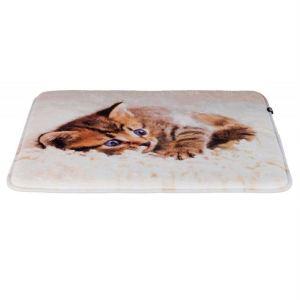 """Матрац для котов """"Tilly"""" Trixie бежевый с кошкой, плюш 50х40 см."""
