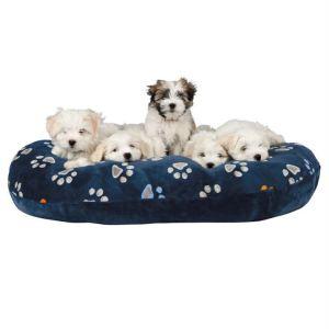 """Матрац для собак """"Jimmy"""" Trixie синий с лапками плюш"""
