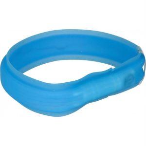 Ошейник для собак силиконовый широкий светящийся с USB Trixie синий