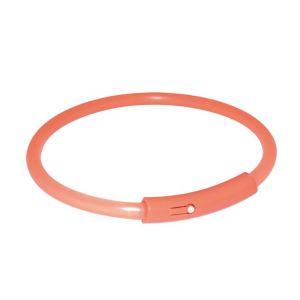 """Ошейник для собак """"Safer Life Light Band"""" оранжевый светящийся Trixie пластик"""