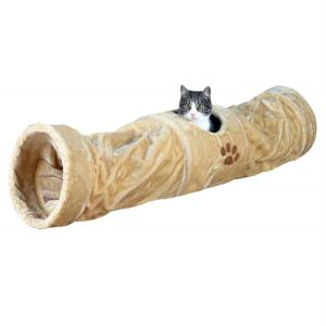 Тоннель меховой для котов Trixie бежевый плюш 125 см./ ø 25 см.