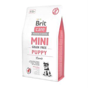 Корм для щенков миниатюрных пород и кормящих сук Brit Care GF Mini Puppy Lamb с ягненком