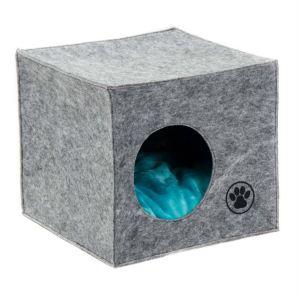 """Дом-лежак для собак и кошек Природа Pet Fashion """"ГРЕЙ"""" (39х39х36 см.)"""