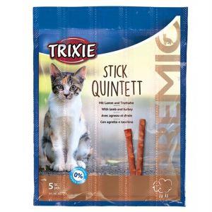 "Лакомство для кошек – ""PREMIO Quadro-Sticks"" ягненок и индейка Trixie 5 шт.х5 гр."