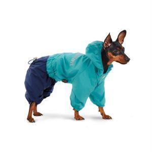 "Дождевик для собак Pet Fashion ""Бинго"" камуфляж, бирюза/синий 2018"