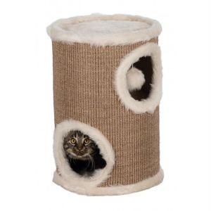 """Дряпка для кошек домик-башня """"Cat Tower Edoardo"""" Trixie коричневая/кремовая 50 см."""
