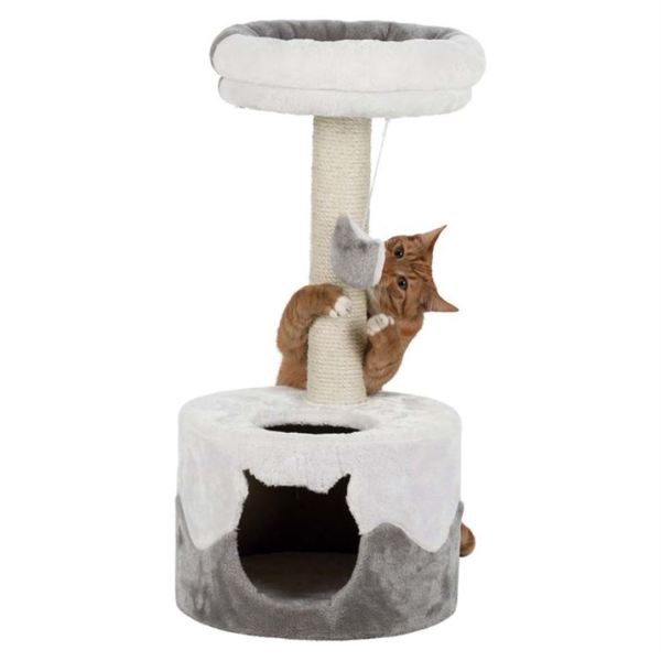"""Дряпка для кошек """"Nuria"""" Trixie белая/серая, оранжевая/серая 71 см."""