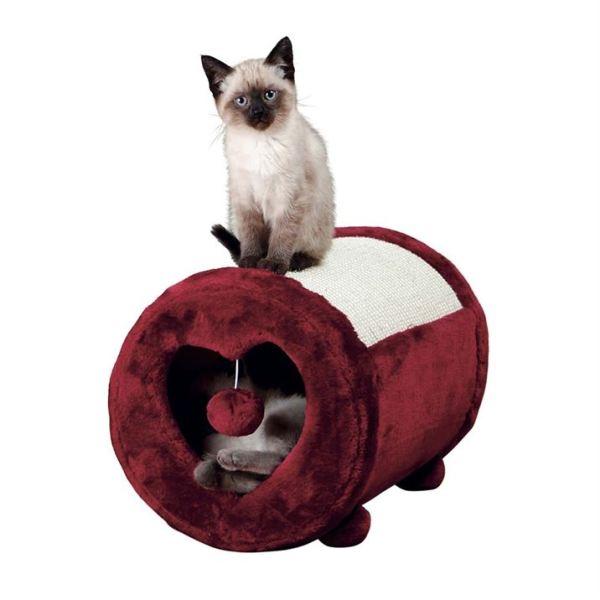 Дряпка круглая для кошек Trixie красная 27х39 см.