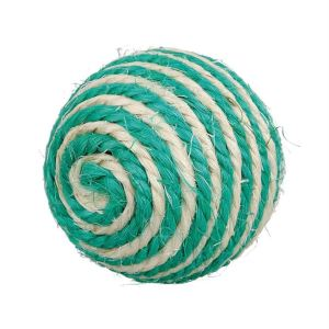 Игрушка для кошек - Мяч с погремушкой Trixie сизаль 6 см. (в цветовом ассортименте)