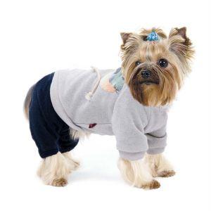 "Комбинезон для собак Pet Fashion ""Стефани"" бежевый/синий, серый/синий 2018"