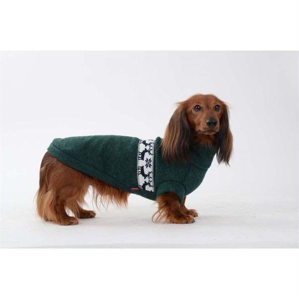 """Свитер для собак (для таксы) Pet Fashion """"Крис"""" зеленый, серо-голубой 2018"""