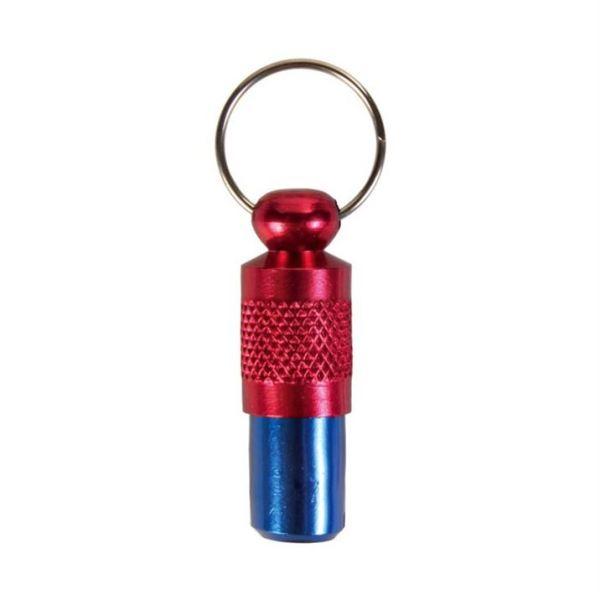 Адресовка-капсула для собак и кошек Trixie красная/синяя, металл