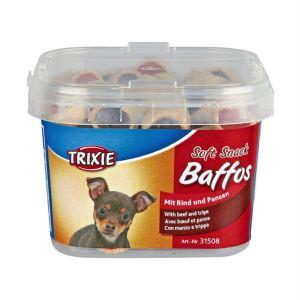 "Лакомство для собак ""Baffos"" Trixie пластиковое ведро 140 гр. (говядина)"