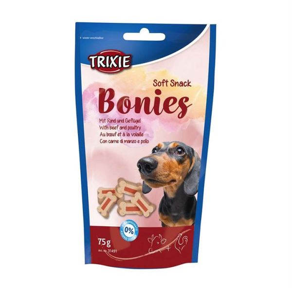 "Лакомство для собак ""Bonies"" Trixie 75 гр. (говядина и индейка)"