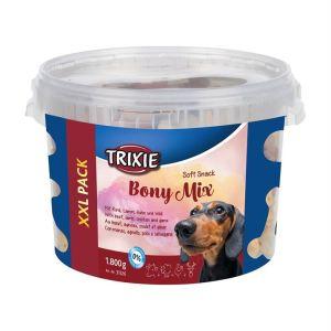 """Лакомство для собак """"Bony Mix"""" Trixie пластиковое ведро 1,8 кг. (ассорти)"""