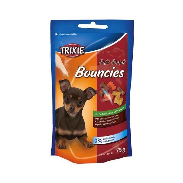 """Лакомство для собак и щенков """"Bouncies"""" Trixie 75 гр. (ягненок и желудок)"""