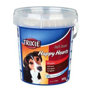 "Лакомство для собак ""Happy Hearts"" Trixie пластиковое ведро 500 гр. (ягнёнок)"