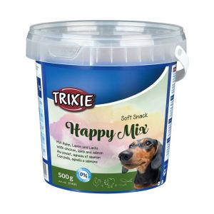 "Лакомство для собак ""Happy Mix"" Trixie пластиковое ведро 500 гр. (ассорти)"