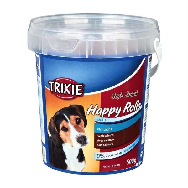 "Лакомство для собак ""Happy Rolls"" Trixie пластиковое ведро 500 гр. (лосось)"