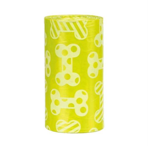 Пакеты для уборки фекалий собак Trixie M 4 рулона по 20 шт. желтые (полиэтилен)
