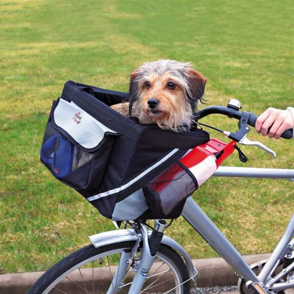 "Сумка-переноска для велосипеда на руль для собак ""Front-Box"" Trixie чёрная 38 x 25 x 25 см. (до 6 кг.)"