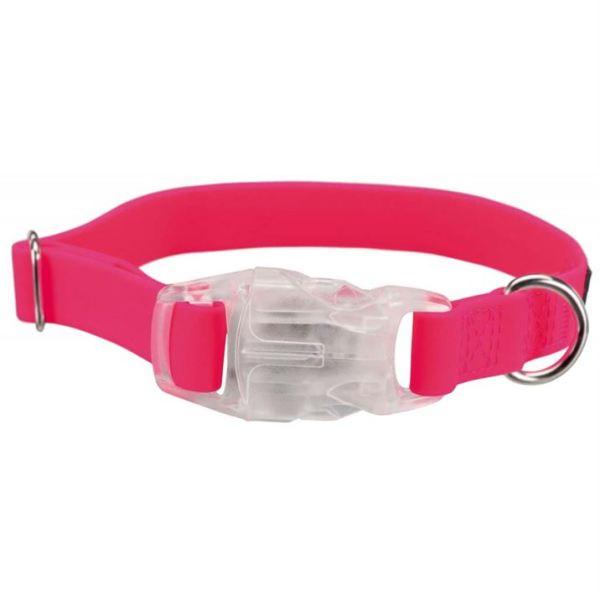 """Ошейник для собак силиконовый светящийся с USB """"Easy Flash"""" Trixie неоновый розовый"""