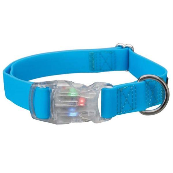 """Ошейник для собак силиконовый светящийся с USB """"Easy Flash"""" Trixie неоновый синий"""