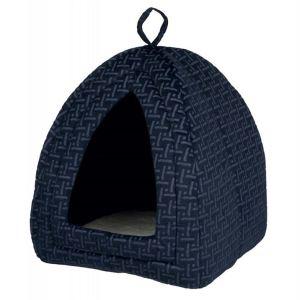 """Домик для котов и маленьких собак Юрта """"Ferris"""" Trixie синий, плюш 32х42х32 см."""