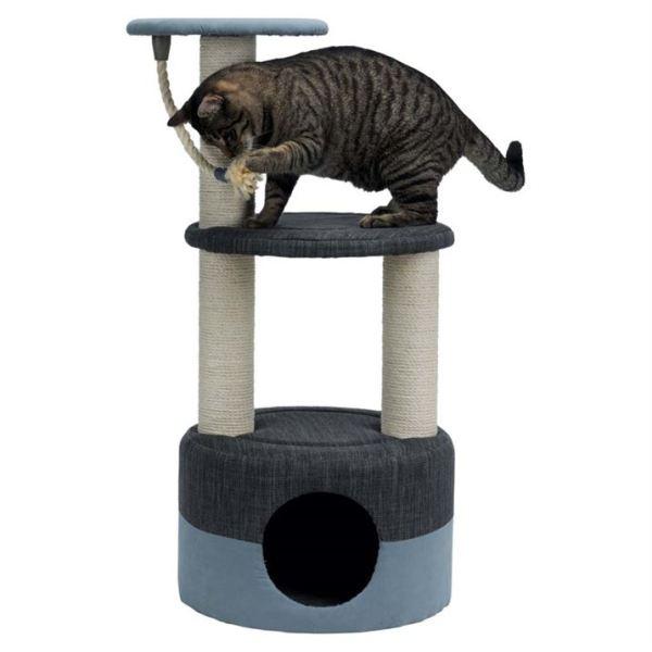 """Дряпка для кошек с канатом """"Alejo"""" Trixie голубая/серая, микрофибра/джут 89 см."""