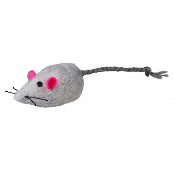 Игрушка для кошек Мышка звенящая Trixie плюш 5 см.