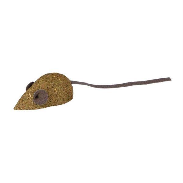Игрушка для кошек Мышка Trixie кожа (2 шт.) 5 см.