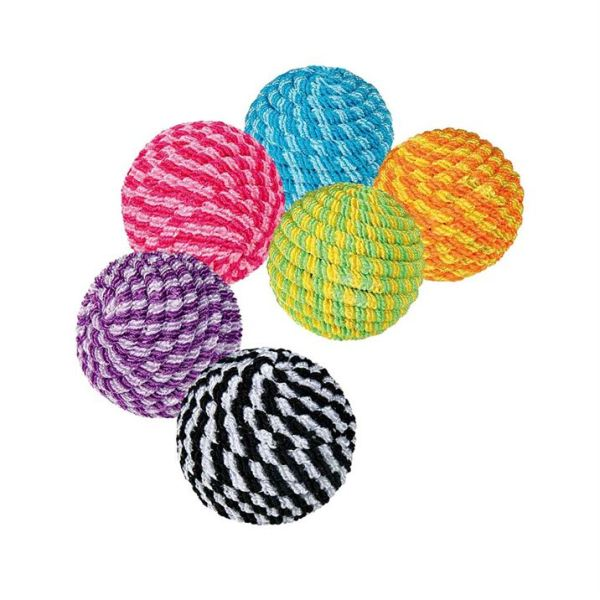 Игрушка для кошек Мячик-спираль яркий Trixie пластик/нейлон 4,5 см.