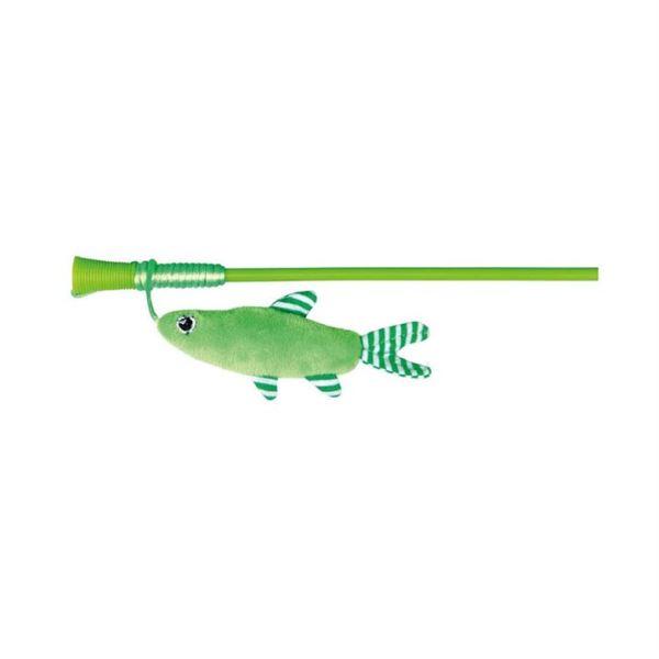 Игрушка для кошек Палочка с плюшевой рыбкой Trixie 42 см.
