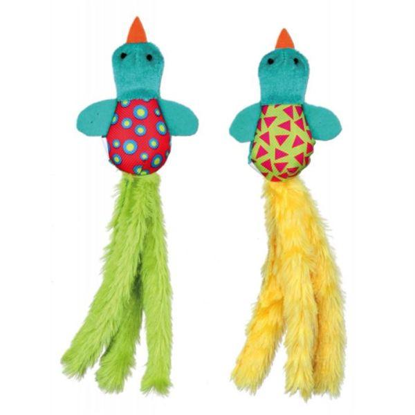 Игрушка для кошек Птичка яркая Trixie плюш/текстиль 21 см.