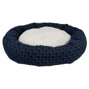 """Лежак для собак круглый """"Ferris"""" Trixie синий/белый, плюш 50 см."""