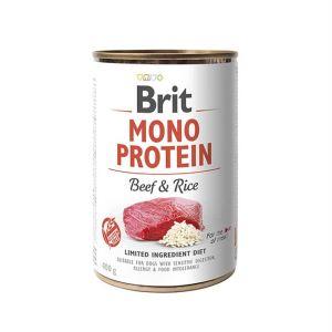 Консервы для собак Brit Mono Protein BEEF & Rice с говядиной и темным рисом 400 гр.