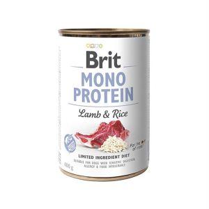 Консервы для собак Brit Mono Protein LAMB & RICE с ягненком и темным рисом 400 гр.