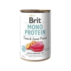 Консервы для собак Brit Mono Protein TUNA & SWEET POTATO с тунцом и сладким картофелем 400 гр.