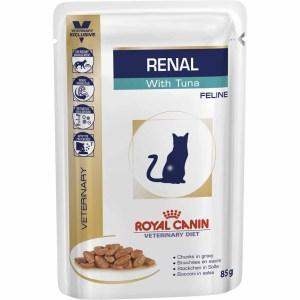 Лечебный влажный корм для кошек при болезнях почек Royal Canin RENAL FELINE WET С ТУНЦОМ