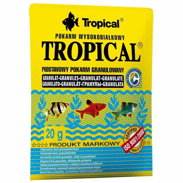 Сухой корм для аквариумных рыб в гранулах Tropical Granulat (для всех видов рыб) 20 гр.