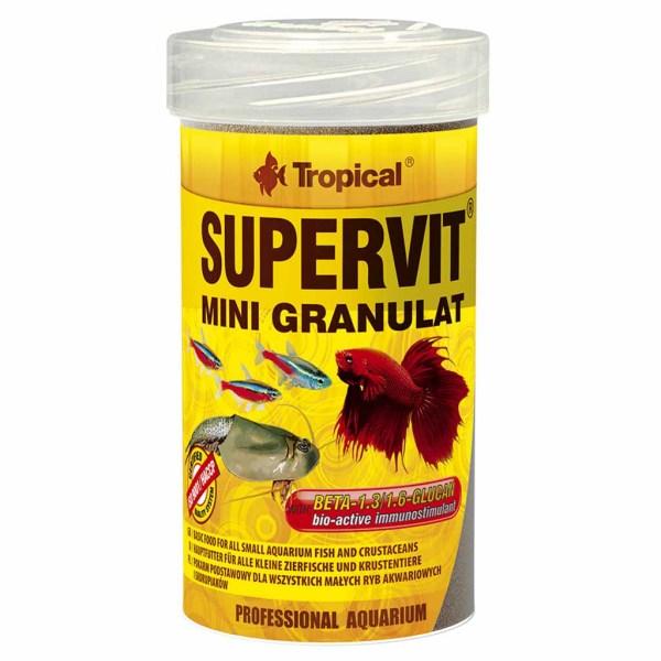 Сухой корм для аквариумных рыб в гранулах Tropical SuperVit Mini Granulat (для всех видов рыб)