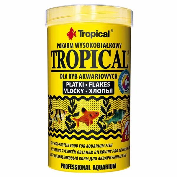 Сухой корм для аквариумных рыб в хлопьях Tropical (для всех видов рыб)
