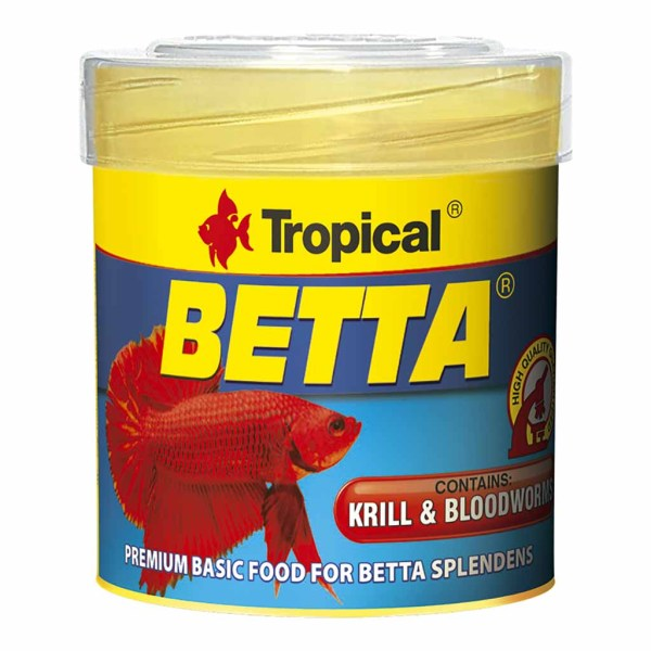Сухой корм для аквариумных рыб в хлопьях Tropical Betta (для петушков)
