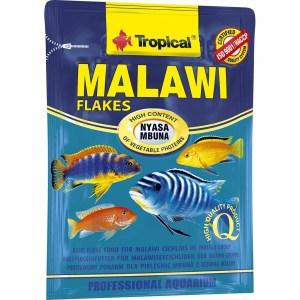 Сухой корм для аквариумных рыб в хлопьях Tropical Malawi (для травоядных цихлид) 12 гр.